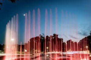 Водна каскада - Плевен през ноща