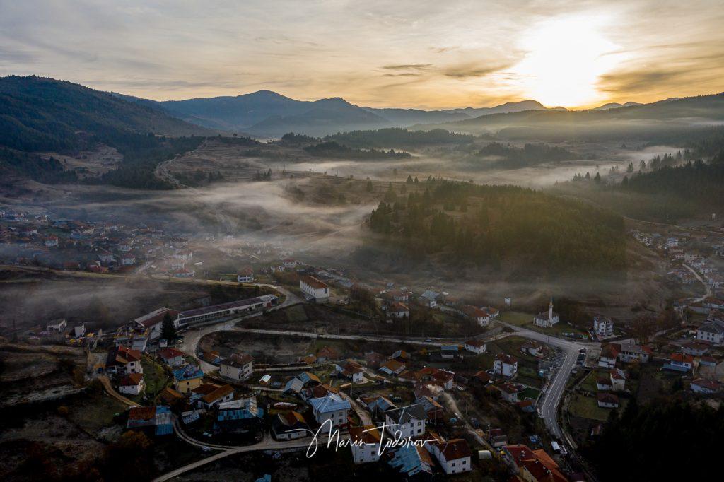 Fog over Yagodina