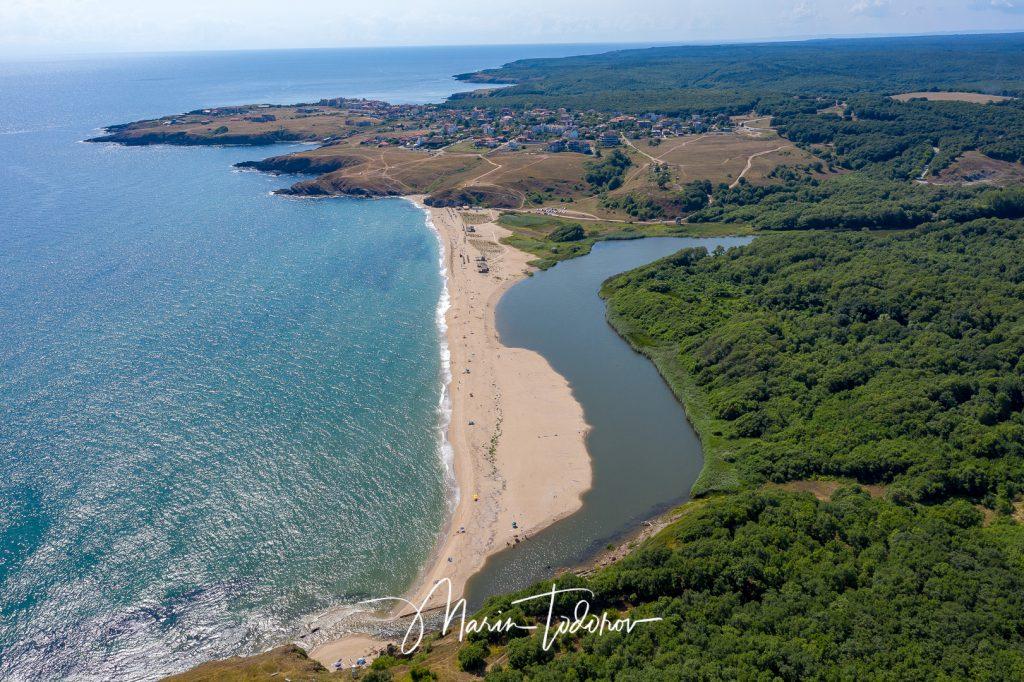 Veleka Beach on Black sea - Sinemorets Bulgaria - shot with DJI Mavic 2 Pro