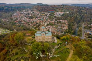 Tsarevets fortress in Veliko Tarnovo, Bulgaria - shot with DJI Mavic 2 Pro