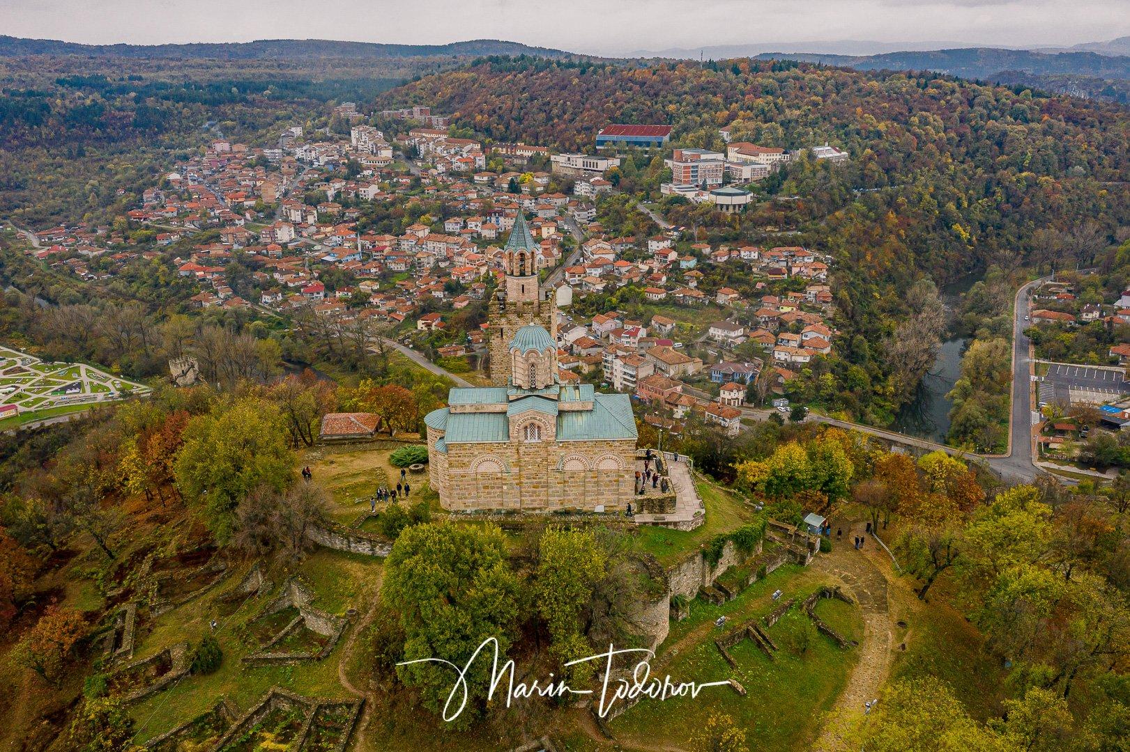 Tsarevets fortress in Veliko Tarnovo, Bulgaria - shot with DJI Mavic 2 Pro