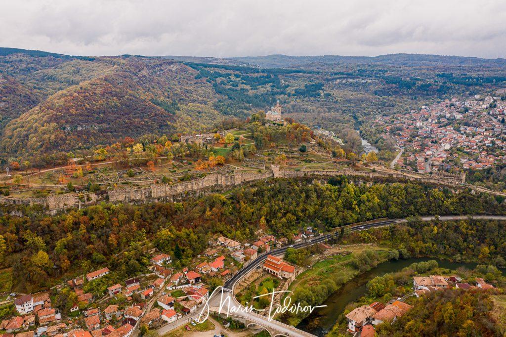 Tsarevets fortress in Veliko Tarnovo Bulgaria - shot with DJI Mavic 2 Pro