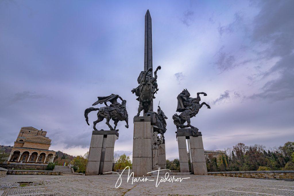 Asenevtsi monument in Veliko Tarnovo, Bulgaria