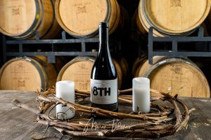 8th - bottle of wine Chateau Copsa - product photography