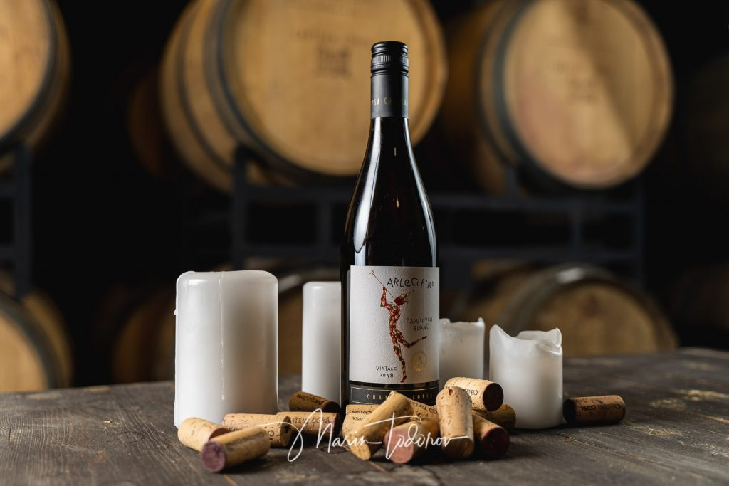 Applechino - bottle of wine Chateau Copsa - product photography