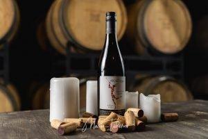 Applechino - бутилка вино Шато Копса - продуктова фотография