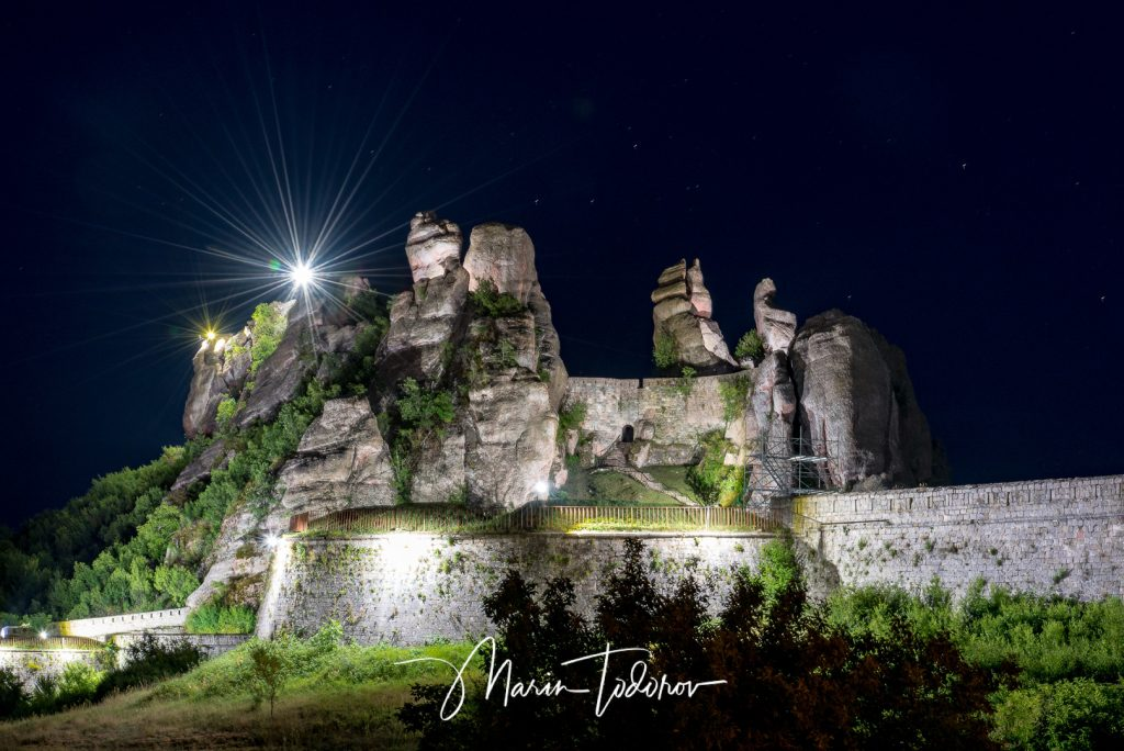 Belogradchik fortress during the night